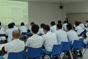 Road safety training in factory
