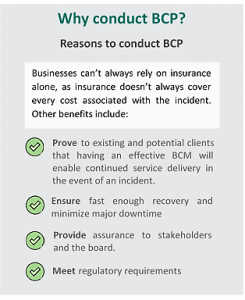 Reasons to implement BCP